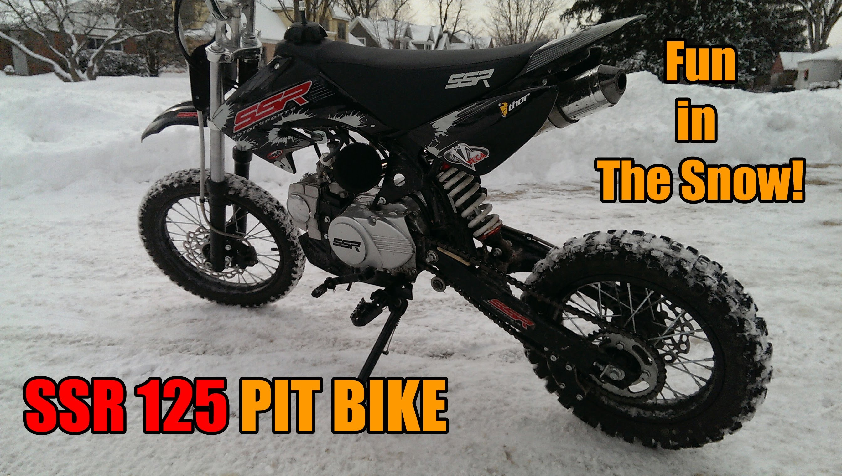 Ssr Pit Bike Fun In The Snow