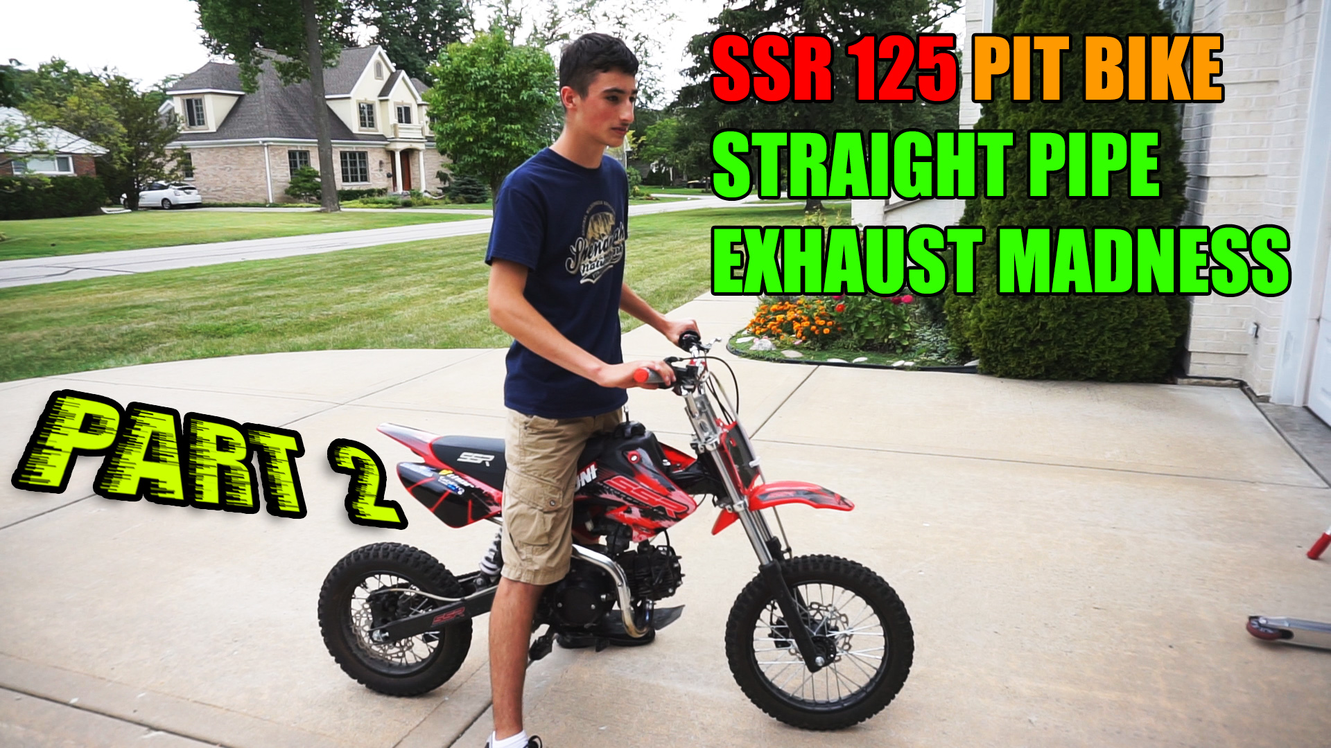 SSR 125 Straight Pipe Madness Part 2