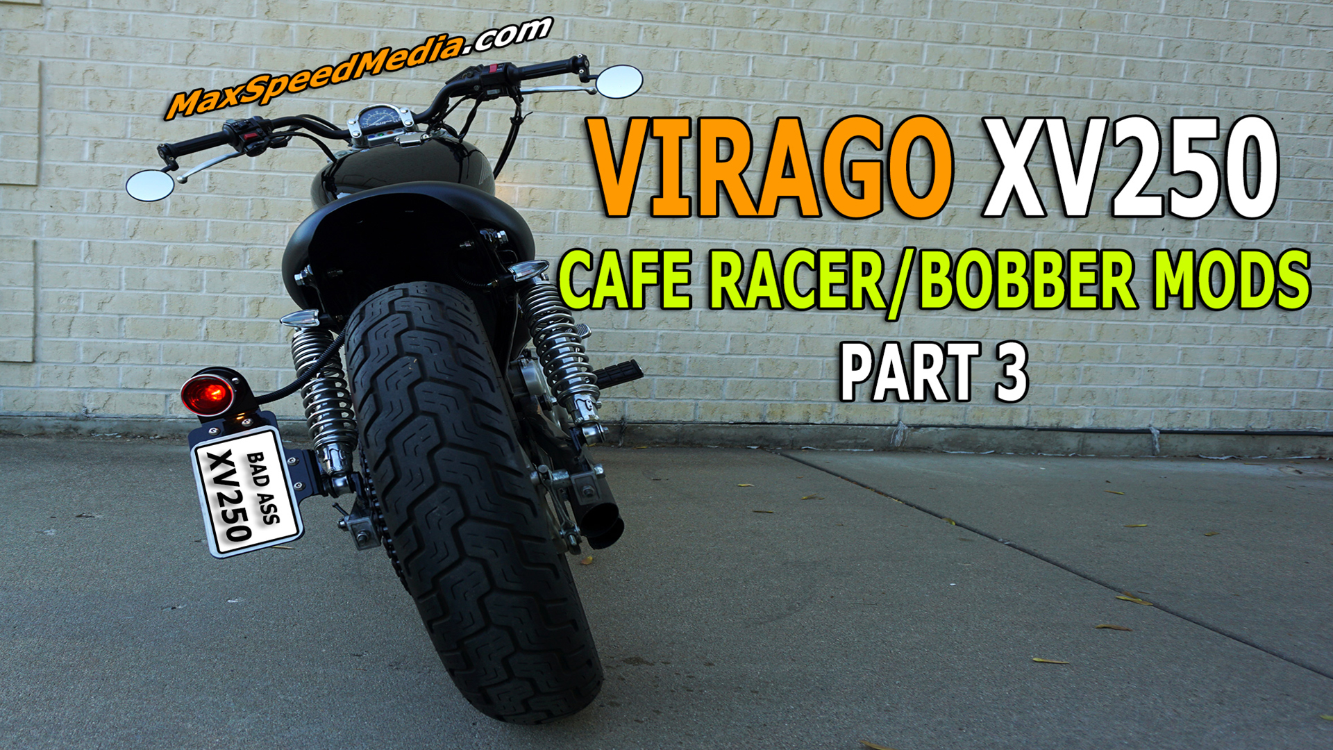 Virago XV250 Cafe Racer Bobber Mods Part 3
