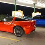 450hp WRX STi vs Corvette Z06