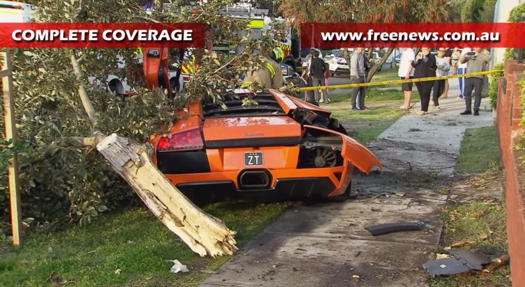 Lamborghini Murcielago LP640 destroyed