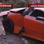 Lamborghini Murcielago LP640 destroyed