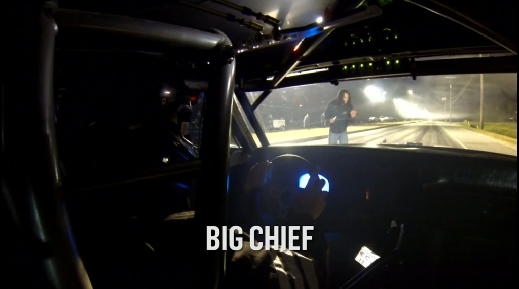 Street Outlaws Big Chief vs Kye Kelly In Car Footage