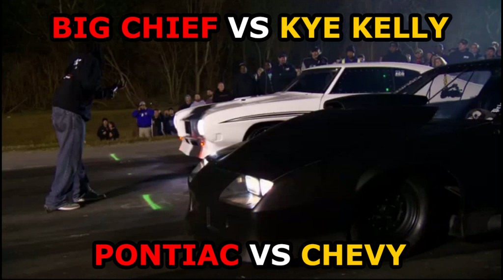 Street Outlaws Big Chief Vs Kye Kelly In Car Footage