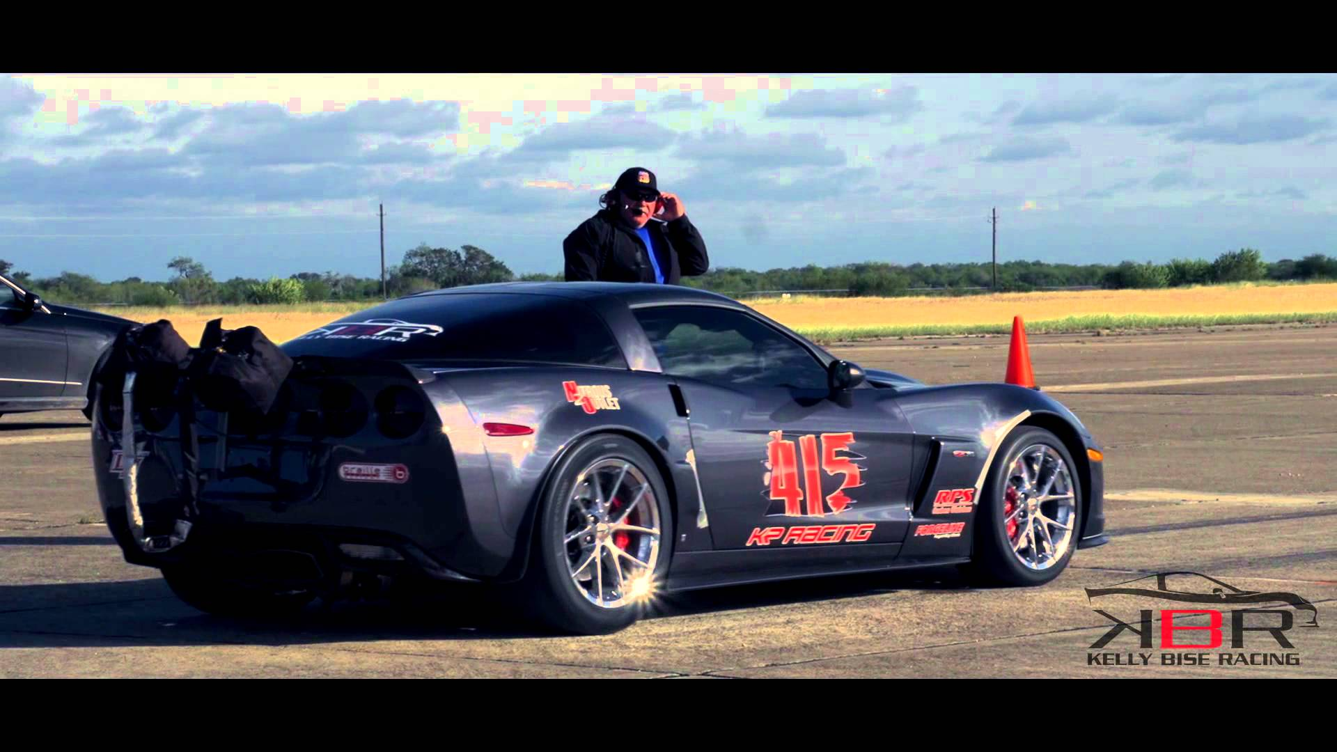 3,000 horsepower Z06 Corvette gets air at 190 mph