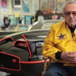 George Barris with the Batmobile